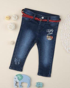 Παντελόνι Jeans με Αρκουδάκι για Κορίτσι