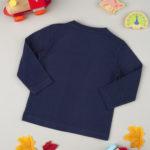 Μπλούζα Μακρυμάνικη Βαμβακερή Σκούρο Μπλε για Αγόρι