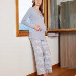 Γυναικεία Πιτζάμα Με Εμπριμέ Παντελόνι