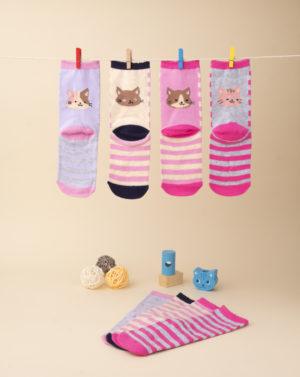 Κάλτσες συσκ. x4 για κορίτσι
