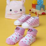 Σετ Παπούτσια-Κάλτσες-Σκουφάκι για Κορίτσι
