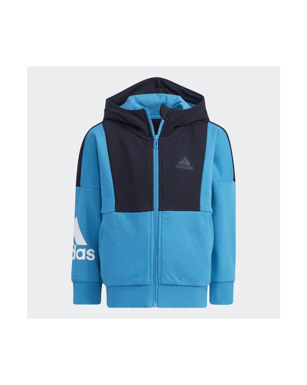Adidas Ζακέτα Φόρμας Aeroready Badge of Sport Μπλε για Αγόρι H40258