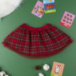 Φούστα Σχέδιο Ταρτάν με Τούλι για Κορίτσι