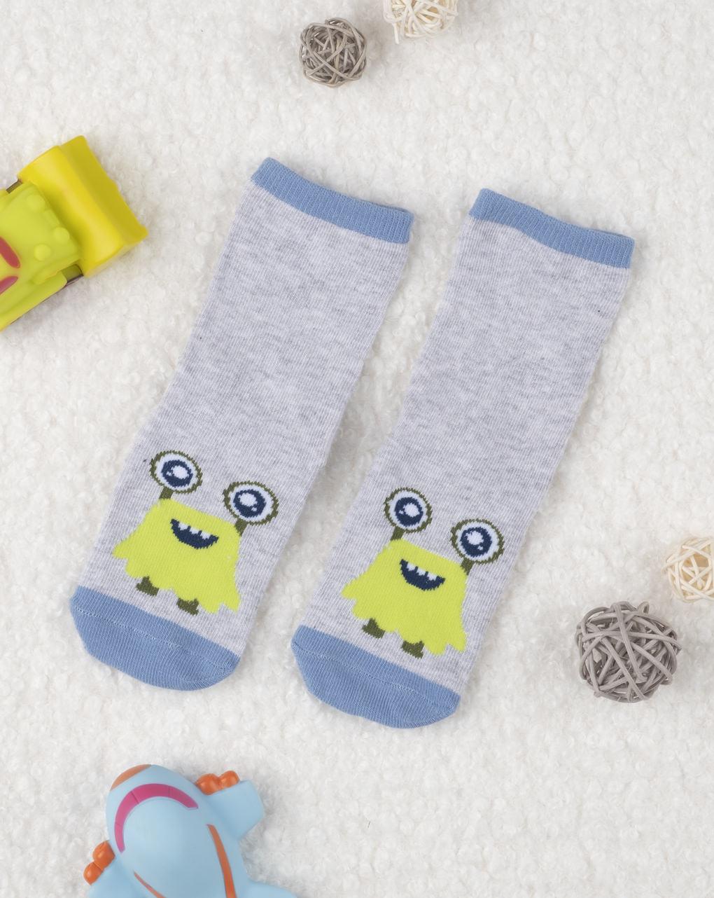 Αντιολισθητικές κάλτσες με στάμπα για αγόρι