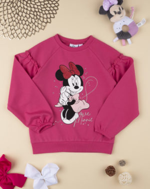 Mπλούζα Φούτερ με Minnie Φούξια για Κορίτσι