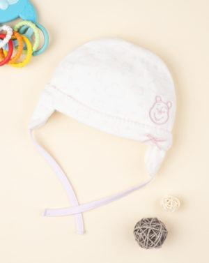 Καπέλο Σενίλ Κρεμ Winnie the Pooh για Κορίτσι