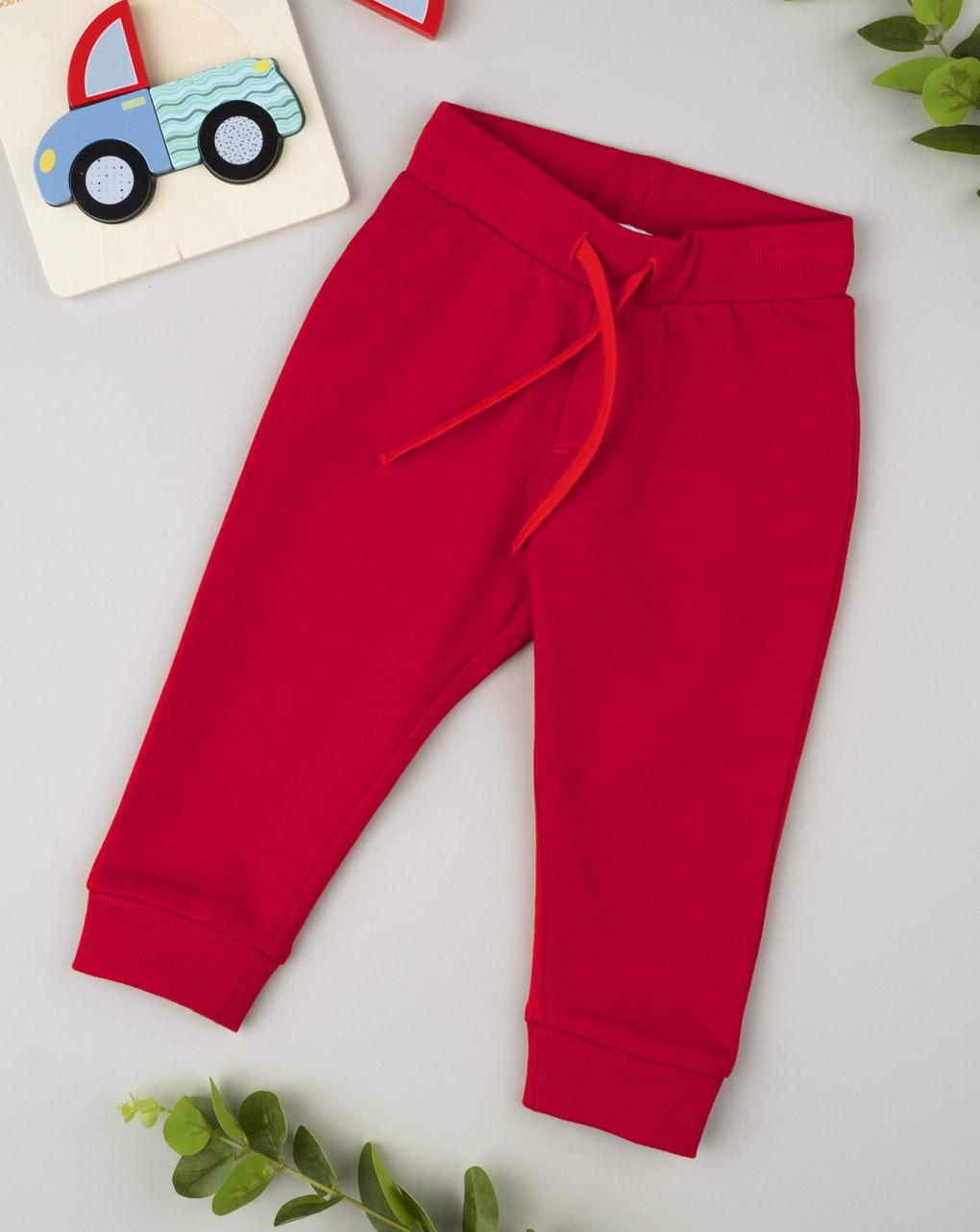 Παντελόνι Βαμβακερό Κόκκινο για Αγόρι