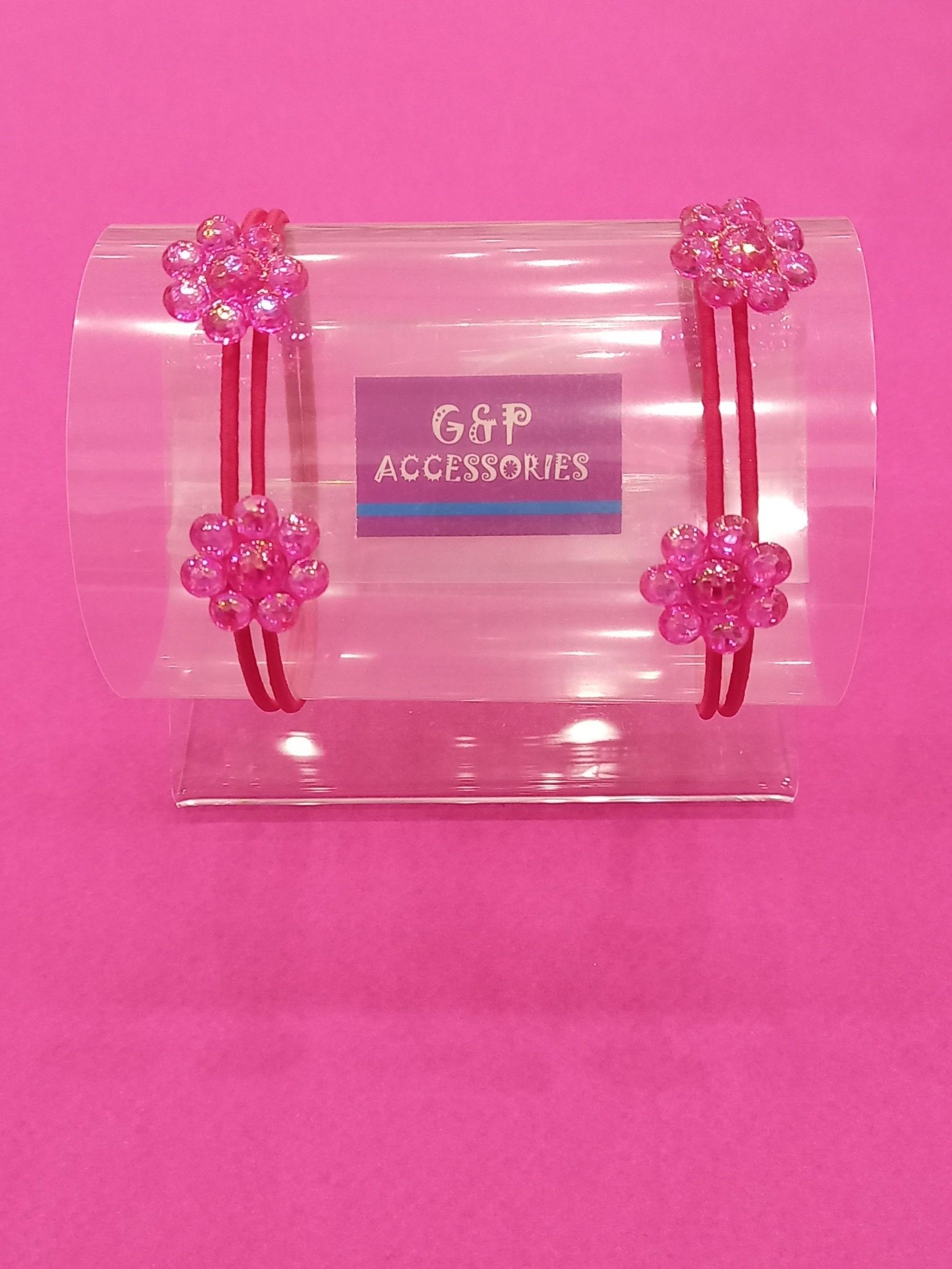 Λαστιχάκι Λουλούδι για Κορίτσι σετ των 2 - 6 σχέδια