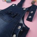 Σαλοπέτα -Φόρεμα Jeans με Αρκουδάκι για Κορίτσι