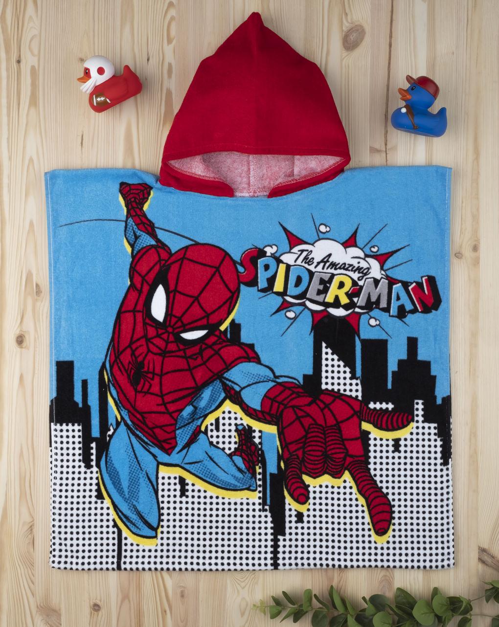 Μπουρνούζι-Πόντσο Βαμβακερό Spiderman για Αγόρι