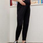 Γυναικείο Παντελόνι Εγκυμοσύνης Βισκόζη Stretch Μαύρο