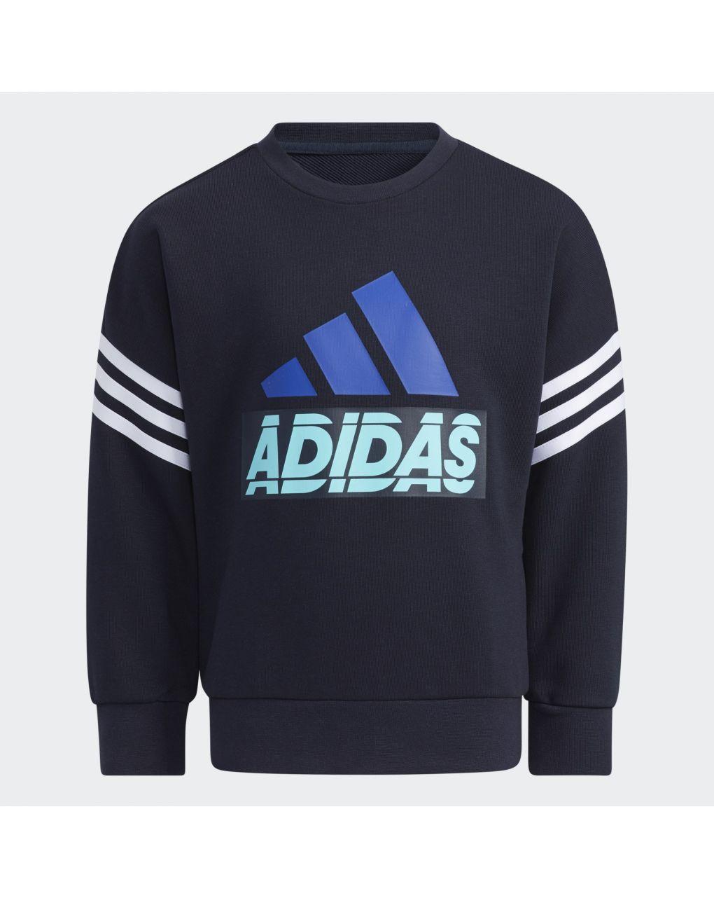 Adidas Μπλούζα Φούτερ Graphic Crewneck Aeroready Μπλε για Αγόρι H40249