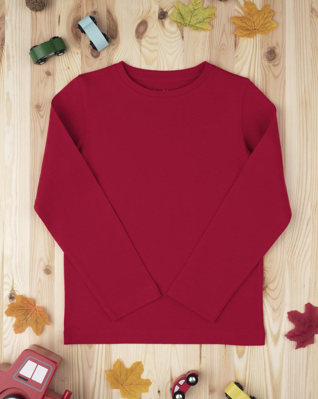 Μπλουζάκι Μακρυμάνικο Κόκκινο για Αγόρι