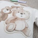 Σετ Μπλούζα και Γκέτες Βαμβακερό με Αρκουδάκια για Κορίτσι