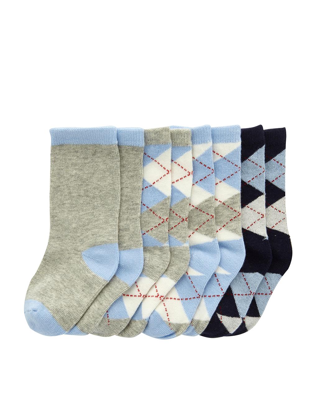 Κάλτσες με Σχέδια Πακέτο x4 για Αγόρι