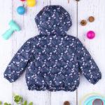 Μπουφάν με Κουκούλα & Πεταλούδες Μπλε για Κορίτσι