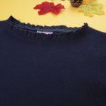 Μπλούζα Μακρυμάνικη Ριπ Σκούρο Μπλε για Κορίτσι