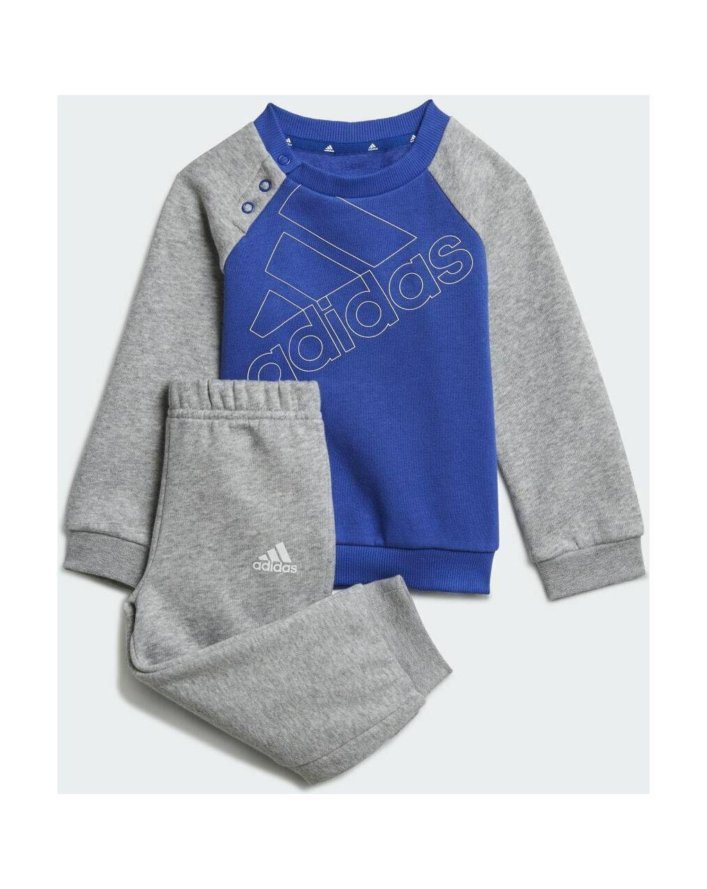 Adidas Σετ Φόρμας Essentials Μπλε/Γκρι για Αγόρι GS4266