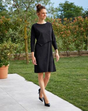 Γυναικείο Φόρεμα Θηλασμού Jersey Μαύρο