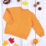 Μπλούζα Φούτερ Πορτοκαλί με Στάμπα για Αγόρι