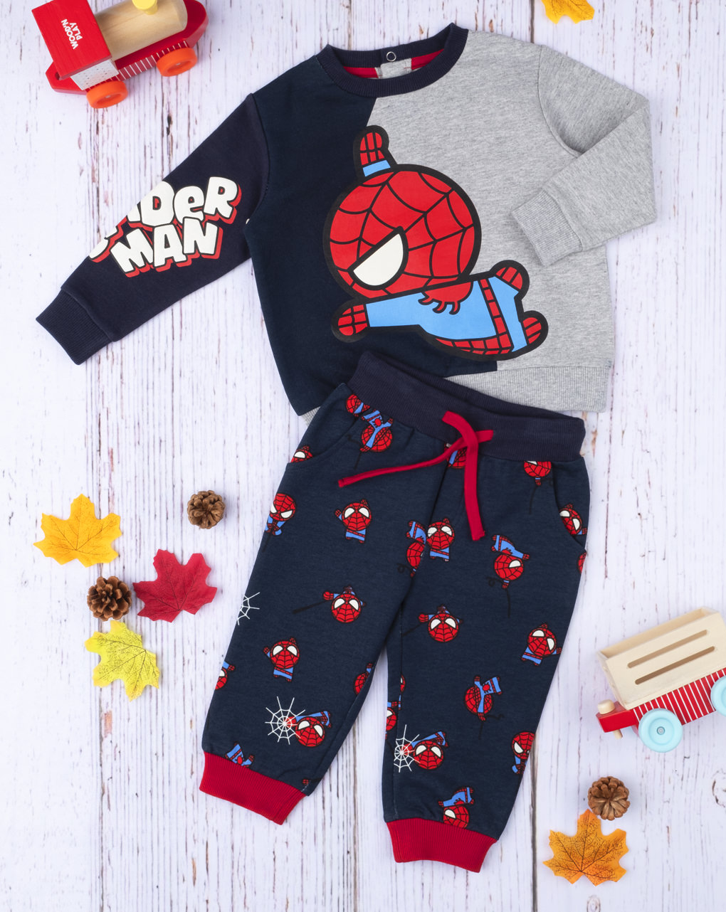 Σετ Φόρμας Με Στάμπα Spiderman για Αγόρι