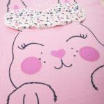 Πιτζάμα Interlock Ροζ με Λαγουδάκι για Κορίτσι