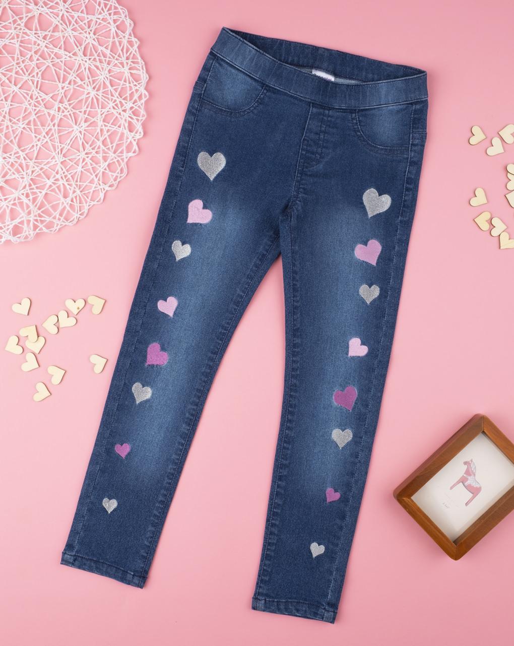 Παντελόνι Jeans Με καρδούλες για Κορίτσι