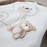 Φορμάκι Σενίλ Δίχρωμο με Αρκουδάκια για Αγόρι