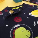 Πιτζάμα Interlock Σκούρο Μπλε με Πλανήτες για Αγόρι