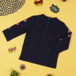 Μπλούζα Μακρυμάνικη Σκούρο Μπλε με Spiderman για Αγόρι