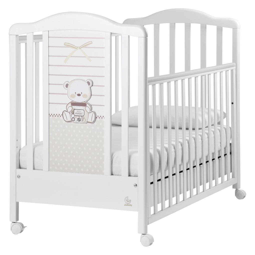 Italbaby Κρεβάτι Mon Amour Λευκό 70x130 cm