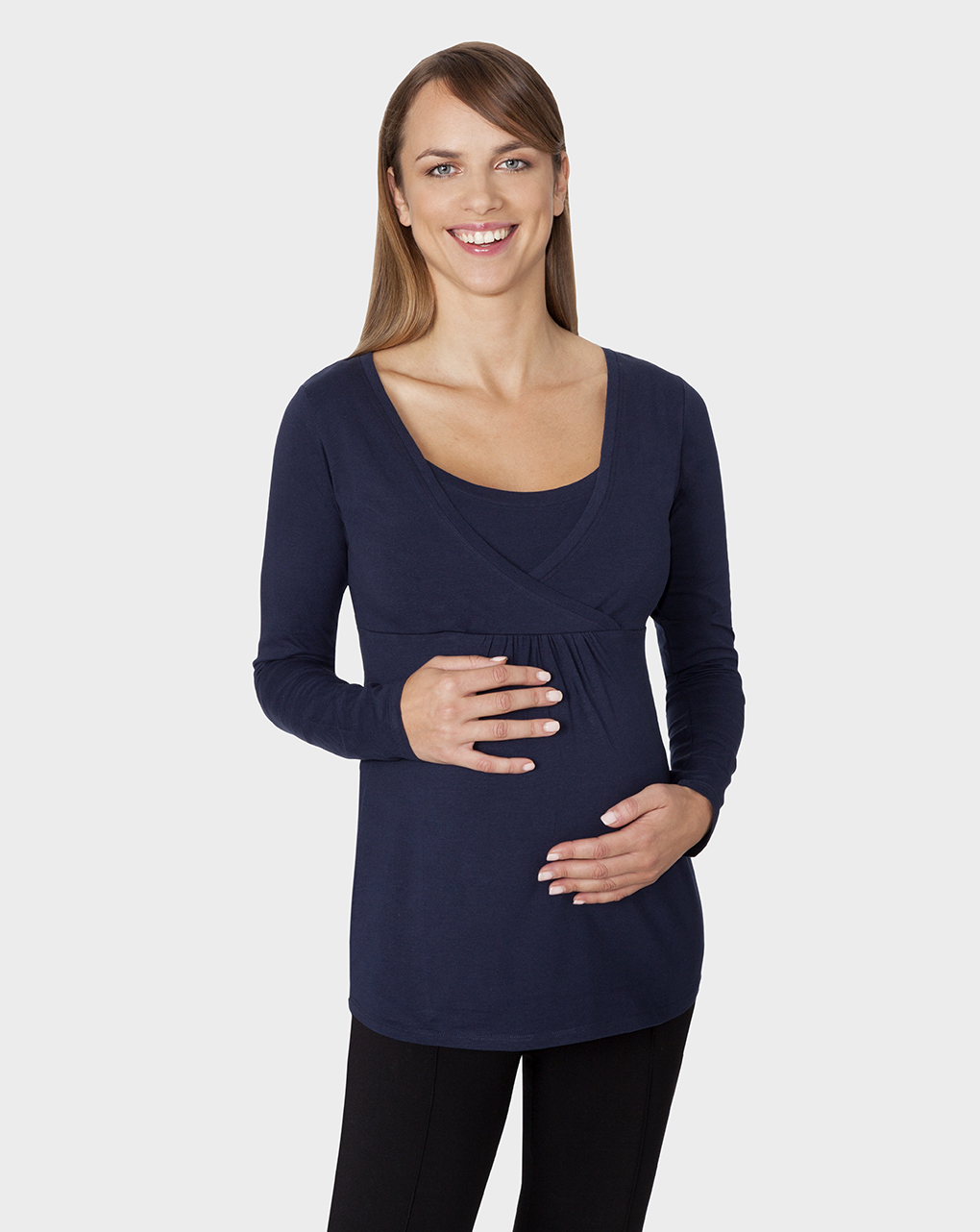 Γυναικεία Μπλούζα Θηλασμού Σκούρο Μπλε