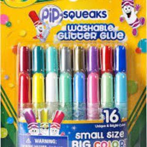 Crayola 16 mini glitter κόλλες washable