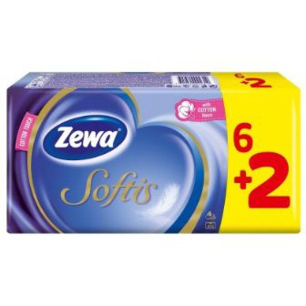 ΧΑΡΤΟΜΑΝΤΗΛΑ ZEWA SOFTIS 4Φ (6+2)X10