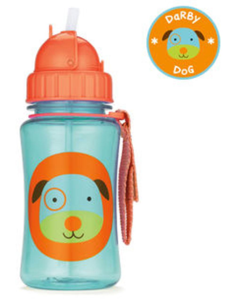 Παγούρι με Καλαμάκι Zoo - Dog / 350ml
