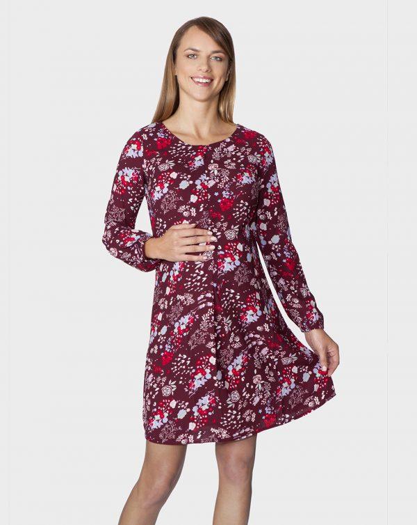 Γυναικείο Φόρεμα Μακρυμάνικο Εμπριμέ