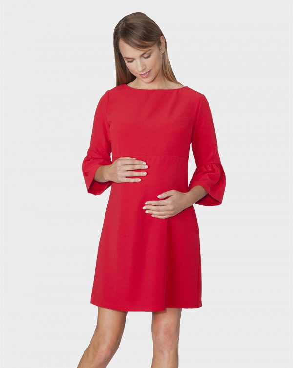 Γυναικείο Φόρεμα Θηλασμού με Μανίκια 3/4 και Φερμουάρ