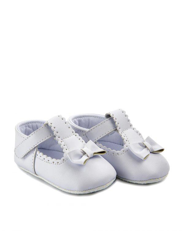 Βρεφικά Παπούτσια Αγκαλιάς με Εφέ Δέρματος για Κορίτσι