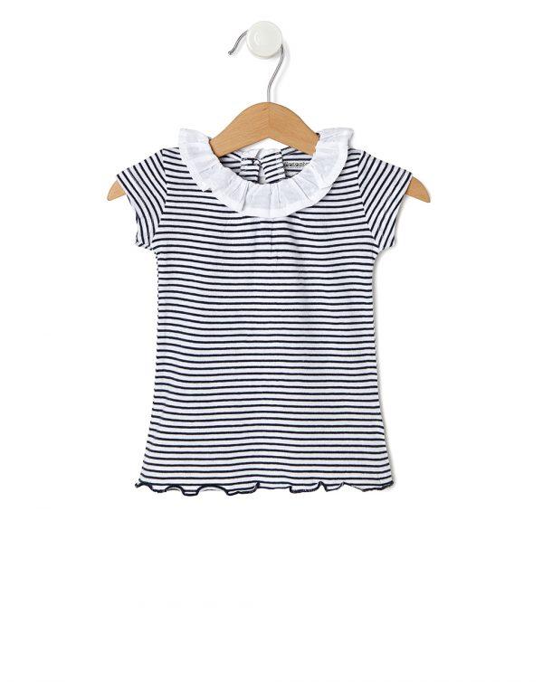 T-Shirt Ριγέ Μπλε-Λευκό για Κορίτσι