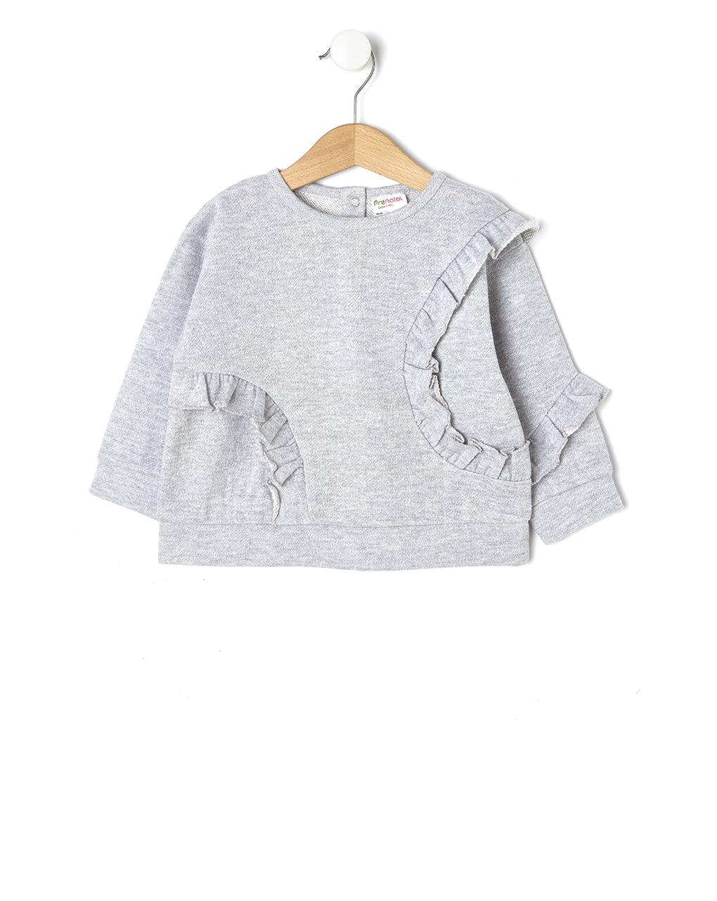 Mπλουζάκι φούτερ με βολάν