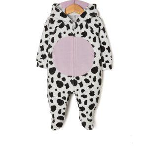 Φορμάκι Σενίλ Σχέδιο Αγελάδα με Κουκούλα για Κορίτσι