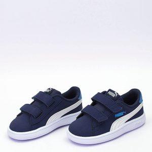 Αθλητικά Παπούτσια Puma 365183 Smash v2 Buck V PS Blue Μεγ.28-35 για Αγόρι