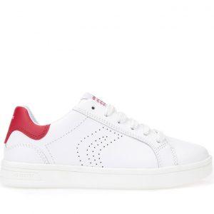 Sneakers Geox J Djrock White/Dk Red Μεγ.28-34 για Αγόρι