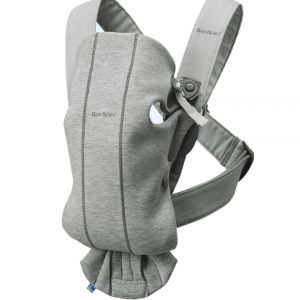 ΜΑΡΣΙΠΟΣ BABYBJORN CARRIER MINI LIGHT GREY 3D JERSEY