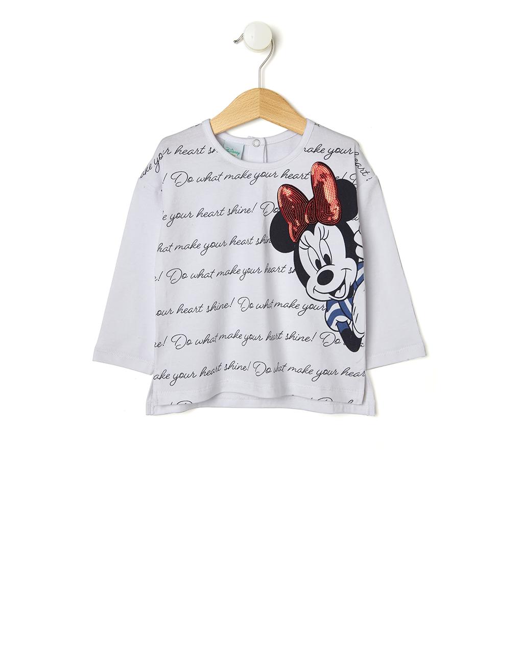 Μπλούζα Μακρυμάνικη Jersey με Στάμπα Minnie για Κορίτσι