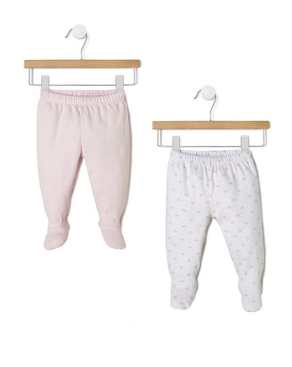 Γκέτες Interlock Πακέτο Χ2 Ροζ-Λευκό για Κορίτσι
