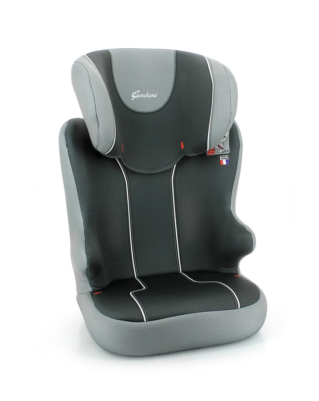 Giordani Κάθισμα Αυτοκινήτου 2-3 Basic Γκρι-Μαύρο Ομ.2-3