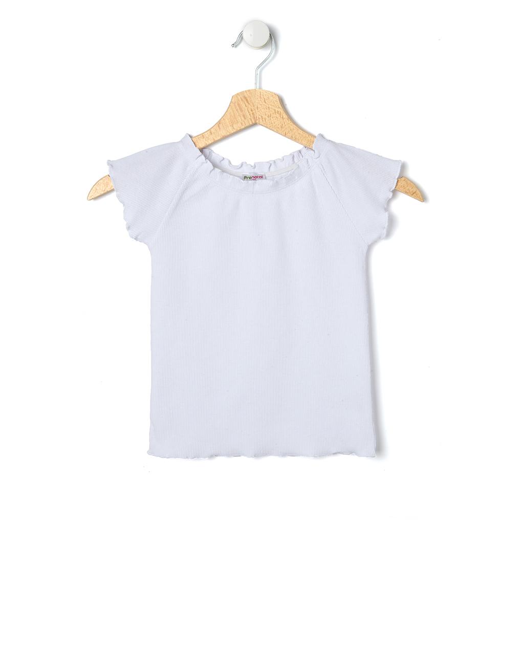 T-Shirt με Ριγωτή Ύφανση για Κορίτσι