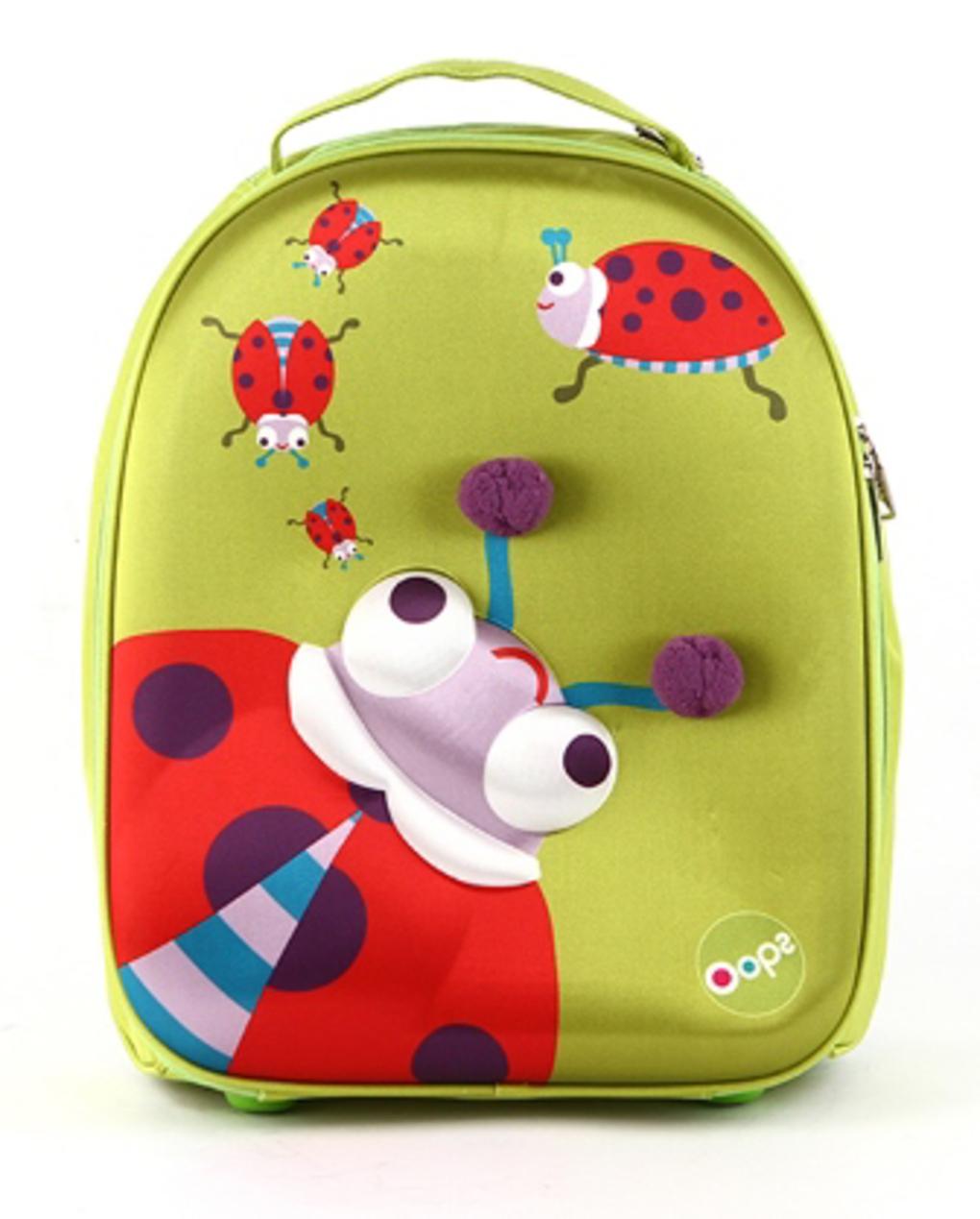 Oops Μαλακή 3D Τσάντα Trolley 35cm Ladybug