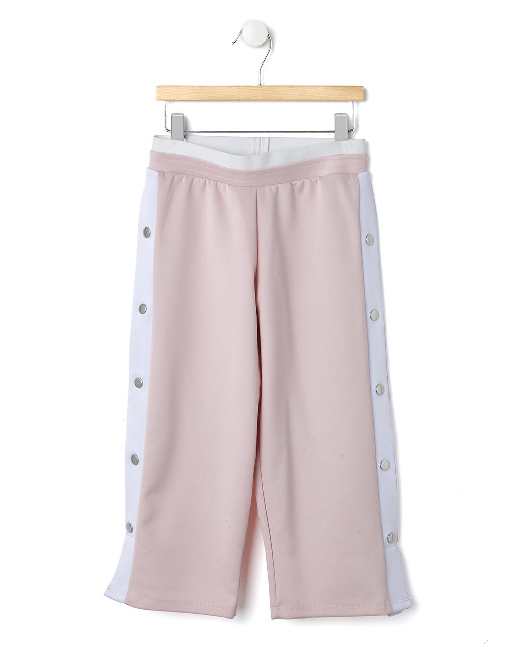 Παντελόνι Ροζ- Λευκό με Κουμπιά τρουκς για Κορίτσι